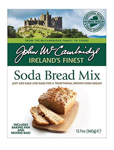 McCambridge Bread Tin Bakery Irish Soda Bread Mix   Wholegrain   Just Add Milk or Plant-based Milk   Bake at Home   12.7 Ounces Net per Box   Case of 6 Boxes