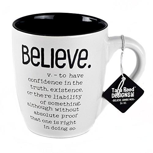 Believe Definition Jumbo Ceramic Mug - 20 Ounces by Tara Reed Designs