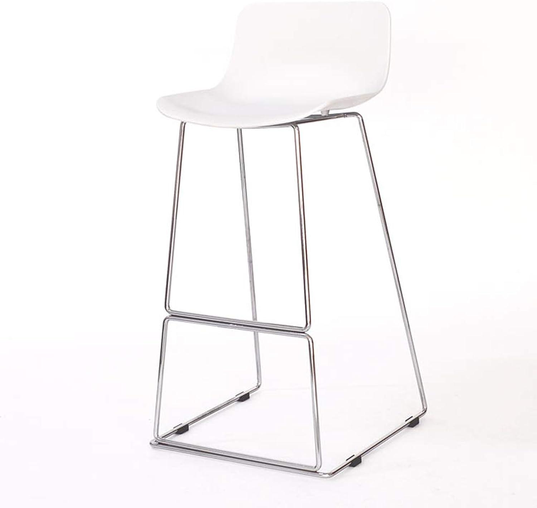 Jiu Si- Iron Bar Chair Front Desk Bar High Chair High Stool Bar Stool Bar Chair Lounge Chair Cafe Chair bar Chair (color   White)