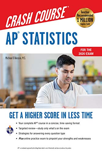 AP® Statistics Crash Course, Book + Online: Get a Higher Score in Less...