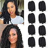 8 Pack Spring Twist Hair 8 Inch Ombre Bomb Twist Crochet Hair for Butterfly Locs...