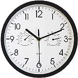 Foxtop Moderno Silencioso Reloj de Pared sin Tic TAC con Ter