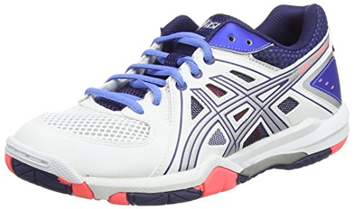 Asics Asics Gel-task, Damen Volleyballschuhe, Weiß (white/powder Blue/flash Coral 0147), 41.5 EU