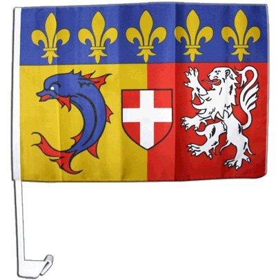 Drapeau de voiture France Rhône-Alpes - 30 x 40 cm