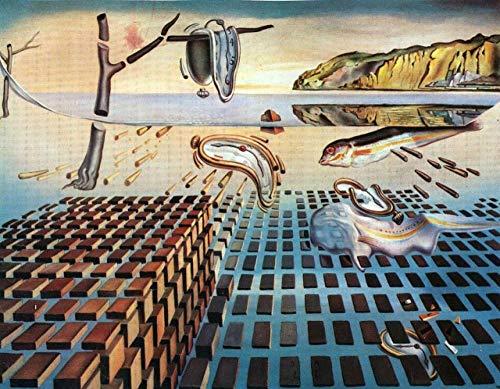 KELDOG Puzzle Jigsaw, Vintage Retro Picture Puzzles Rompecabezas, Persistencia de la Memoria Rompecabezas de surrealismo de Salvador Dali, Divertidos Rompecabezas creativos 1000 Piezas