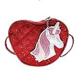 Bolso Bandolera con diseño de Unicornio y Lentejuelas para niñas