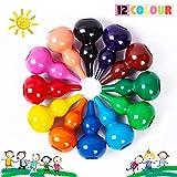 Richgv® - Matite per bambini, atossiche, 12 colori, per lavaggio a mano, per bambini piccoli, apprendimento educativo, disegno a penna giocattolo, parenting, pittura (cucurbitacee)