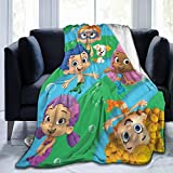 JosephHenkle Soft Micro Fleece Blanket Bubble Guppies Plush Throws Blanket for Children Kids Boys Girls for Bed Sofa Couch Chair Car Travel Beach Lightweight for All Season Gift 50'x40'
