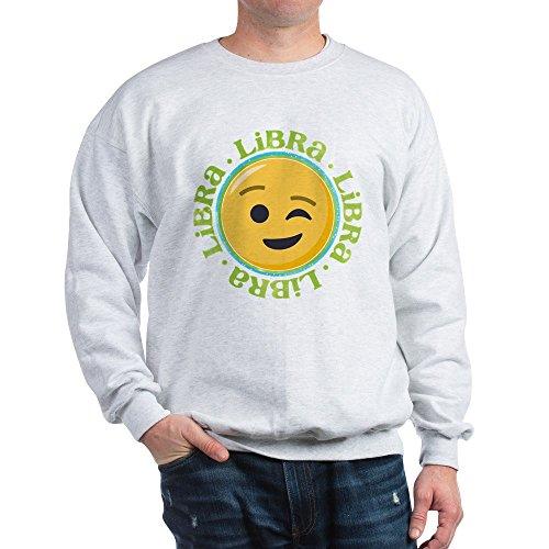 CafePress Sweatshirt Emoji Waage Horoskop Classic Rundhalsausschnitt Gr. L, aschgrau
