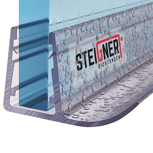 STEIGNER douchestrip, 60cm, glasdikte 6/7/ 8 mm, recht, pvc, vervangende afdichting voor douches, UK14