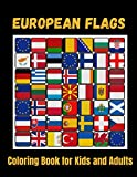 European Flags- Coloring Book for Kids and Adults: Flags for All European Countries with Color Guides to Help   Creativity and Stress Relief   Geography Gift