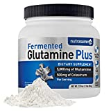 Nutrasumma Glutamine Plus 1.1lb.– Supports Muscle Mass, Pre/Post Workout, Energy Booster, Endurance & Recovery, Gut Health, Immune Support – Dietary Supplement for Men and Women -5,000 mg of Fermented Glutamine, 500mg of rBST-Free Colostrum (100 mg of IgG, 2.5mg of Lactoferrin)