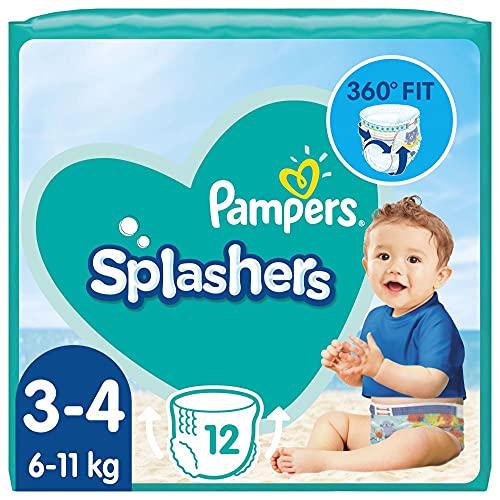 Pampers Baby Windeln Größe 3-4, Splashers, 96 Stück, Einweg-Schwimmwindeln, Für Sicheren Schutz Im Wasser