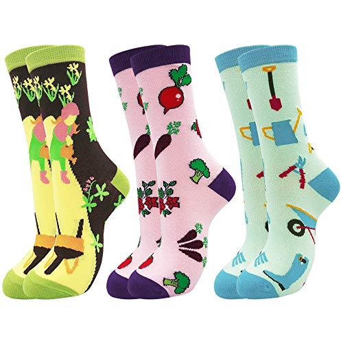 Belloxis Calcetines para mujer, 39-42, divertidos, coloridos