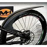 Mudhugger- Guardabarros para bicicleta de montaña, negro 27,5-29 pulgadas