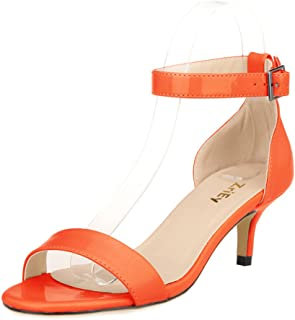 f56ac6e6c41e Amazon.com  Orange - Heeled Sandals   Sandals  Clothing