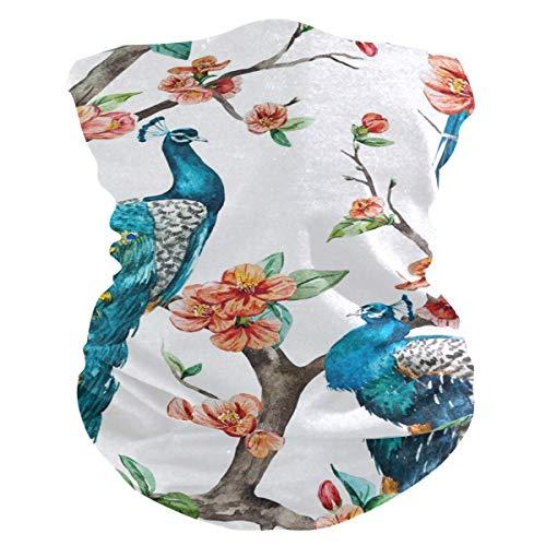 qinzuisp Bandanas met schattige vogel, multifunctioneel, voor dames, hoofdband, hals en gamen, UV, 25 x 50 cm, winddicht, bescherming voor het gezicht, bandanas, ademende activiteiten, zacht, wasbaar
