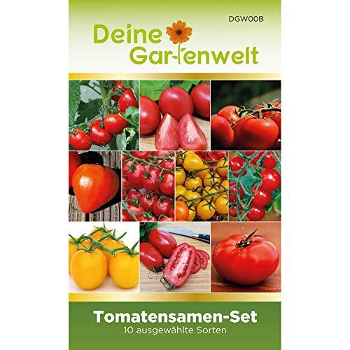 Tomaten-Set mit 10 Sorten Samen | Tomatensamen-Sortiment | Saatgut für Tomaten-Pflanzen