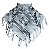 FREE SOLDIER 100% algodón Militar táctica Shemagh Desierto Keffiyeh Bufanda Wrap para Hombres y Mujeres(Camuflaje Azul)