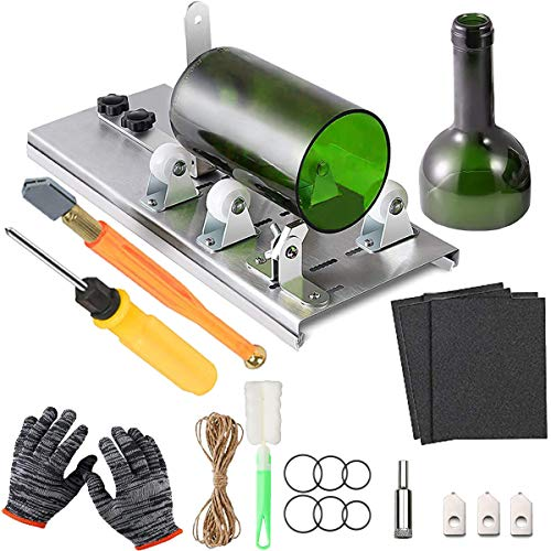 Acmerota Cortador de botellas de vidrio, kit de herramientas de corte de botellas mejorado, cortador de botellas, kit de cortador de vidrio, para cortar botellas de vino o frascos para fabricar vasos