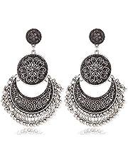 Tassel Earrings Bohemian Dangle Drop Moon Earrings