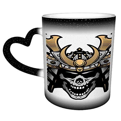 Samurai Skull Art Warrior Helm J Keramik Lustige Kaffeetasse - Neuheit Kaffeetasse...