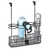 mDesign Soporte para secador de Pelo sin Taladro – Ideal c
