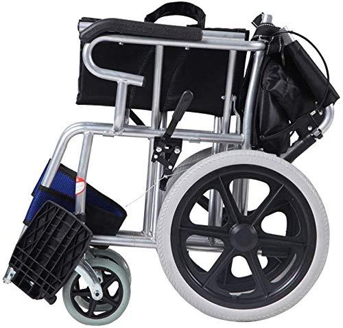 TYZXR Leichter faltender Fahrender Rollstuhl, Rahmen-Überzug-manueller Rollstuhl-Handstoß-Rollstuhl-älteres faltender Rollstuhl-gehendes Auto