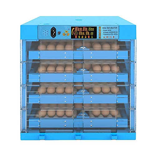 ZFF Eggs Incubators Automatic Turning and Humidity 256Egg Large Farm Poultry Hatcher for Hatching Chicken Duck Dove Quail Intelligent Displays