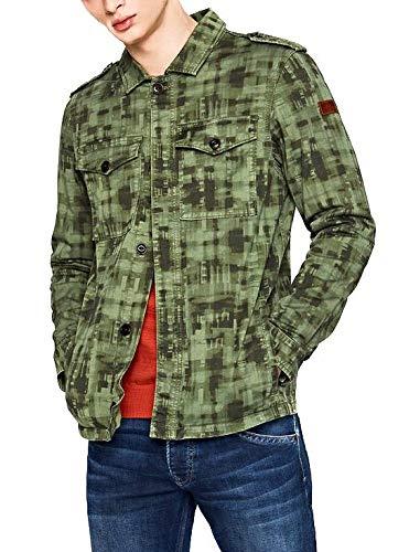 Pepe Jeans Grant Chaqueta, Verde, Small para Hombre