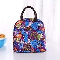 防水ピクニックランチバッグポータブルオックスフォードキャンバストートバッグ女性の食品保存袋弁当箱 (Style : G)
