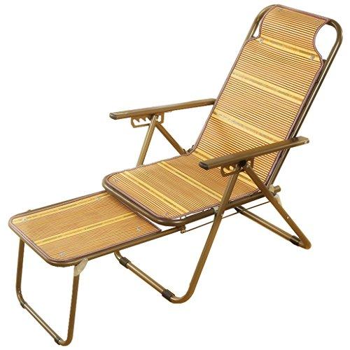 Chaise pliante Eté chaise cool/tapis en bambou/chaise longue/chaise de bureau // chaise paresseuse/chaise pliante heureuse (Couleur : #1)