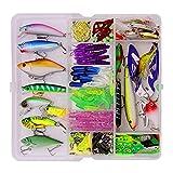 Colcolo Juego de Aparejos de Pesca Plopping Minnow Lure Kit Hard Baits