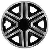 NRM Action 4 x Universal Radzierblenden Radkappen Satz 4er Set Auto KFZ Zoll (Graphit-schwarz, 14')
