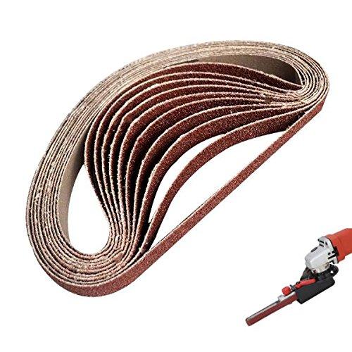 EsportsMJJ 10St 60 Bis 600 Grit 15Mm X 452Mm Schleifbänder Für Winkelschleifer Schleifband Adapter - 120