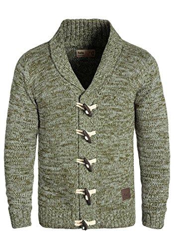 !Solid Prewitt Herren Strickjacke Cardigan Grobstrick Winter Pullover mit Schalkragen, Größe:L, Farbe:Ivy Green (3797)