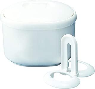 清水産業 電子レンジ調理用品 ホワイト 14.8×11.5×10.5cm