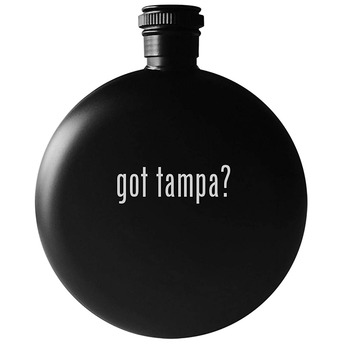 got tampa? - 5oz Round Drinking Alcohol Flask, Matte Black
