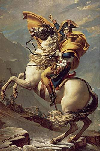 qianyuhe Impresión en Lienzo Napoleón Bonaparte Caballo Retrato Art Posters e Impresiones escandinavo para decoración de Sala de Estar 60x90cm (24x36 Pulgadas