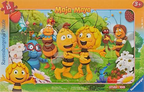 Ravensburger Kinderpuzzle - 06121 Biene Majas Welt - Rahmenpuzzle für Kinder ab 3 Jahren, mit 15 Teilen