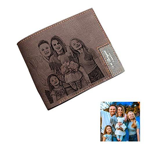 Billetera Personalizada para Hombre, Carteras Personalizadas con Foto,