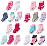 Product Image of the Little Me 20-Pack Newborn Baby Infant & Toddler Girls Socks, 0-12/12-24 Months,...