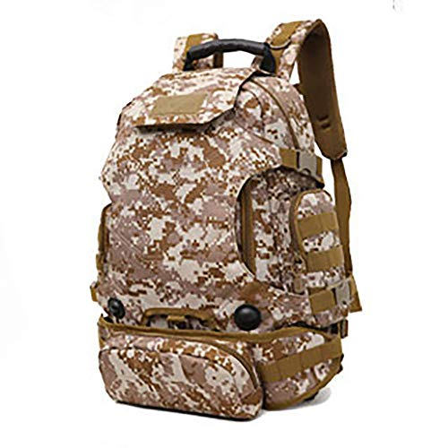 NWJHB Outdoor three-purpose combination backpack, multi-function backpack, camouflage mountaineering bag, cycling bag-Desert Digital