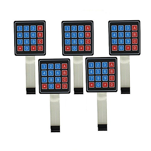 DollaTek 5Pcs 4x4 Universial Teclado Teclado Interruptor