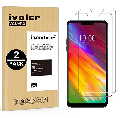 ivoler [2 Stücke] Panzerglas Schutzfolie für LG Q9 / LG G7 Fit/LG G7 Fit Plus/LG G7 One [9H Festigkeit] [Anti- Kratzer] [Bläschenfrei] [2.5D R&e Kante]