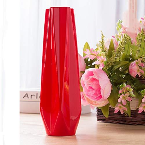 Jarrón Metros Rojo Boda Decoración Cerámica Boda Sala de Salón Moderno Hogar Jarrón Decorativo
