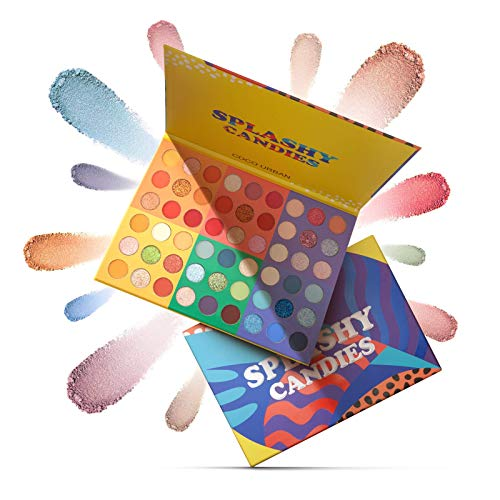 ONLYOILY Glitter Powder trucco opaco lucido a prova di sbavatura impermeabile Makeup Palette Professional – Lunga Durata, Palette di Ombretti Shimmer Face Makeup Kit (54 Colori)