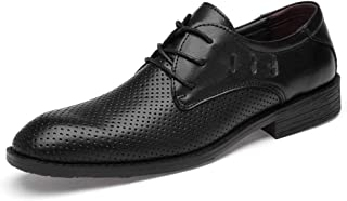 Ssy-ys fashion Oxford Shoes For Men Stately Shoes Lace Up Style PU Leather Leisure Business Round Toe(Empty Optional) Comf...