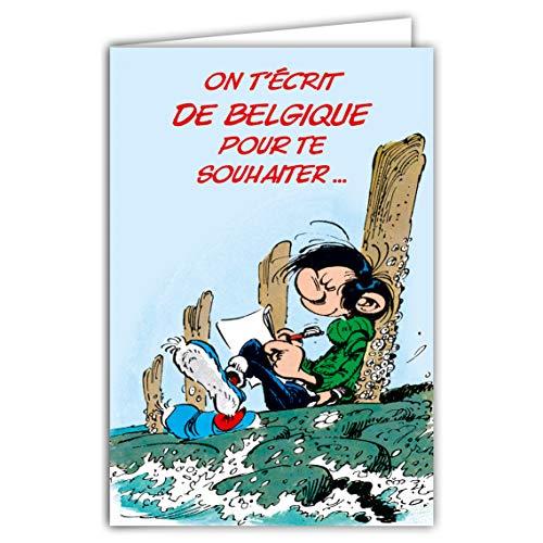 Verjaardagskaart Gaston Lagaffe Belgique 1 aan de plus