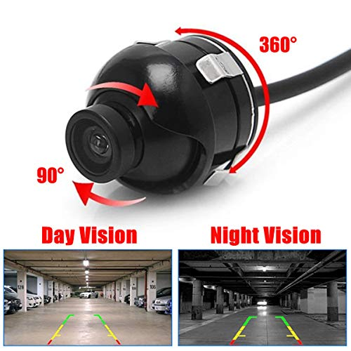 Universal Mini CCD Cámara de Copia de Seguridad de Vista Posterior de 360 Grados para automóviles con Imagen de Espejo Líneas de guía de estacionamiento for The DVD Parking Monitor
